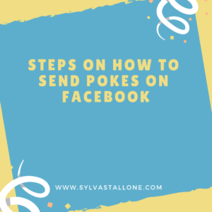 steps on how to send pokes on facebook